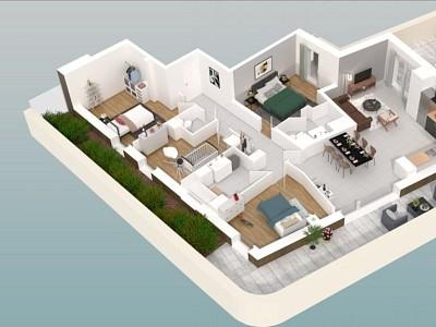APPARTEMENT T5 NEUF A VENDRE - DIJON - 102,87 m2 - 405800 €