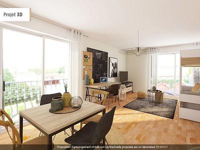 APPARTEMENT T2 A VENDRE - DIJON - 40,26 m2 - 105000 €