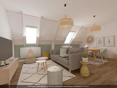 APPARTEMENT T3 A VENDRE - AUXONNE - 66,65 m2 - 69000 €