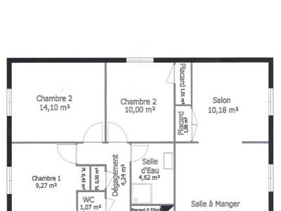 APPARTEMENT T5 - AUTUN - 95,51 m2 - 88000 €
