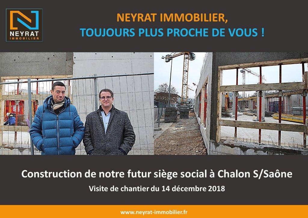 NEYRAT immobilier construit son futur siège social à Chalon Sur Saône