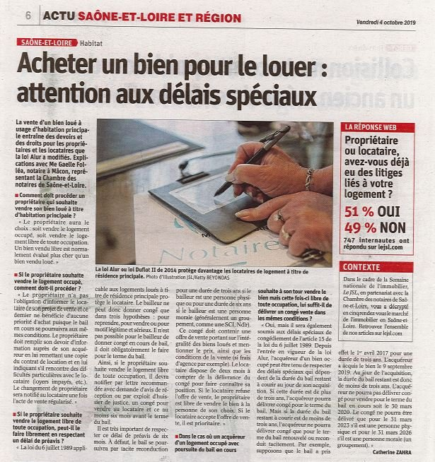 Article JSL du 04 octobre 2019